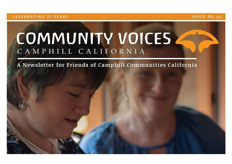 the cover of the camphill california community voices newsletter